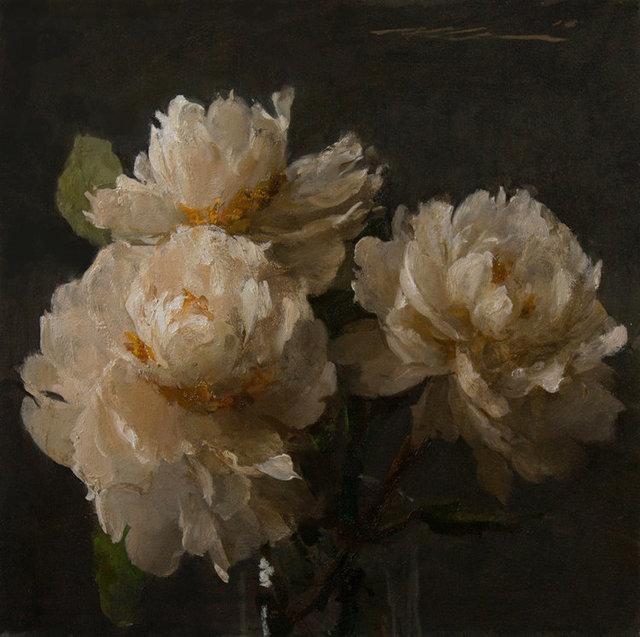 , 'White Peonies,' 2018, Maxwell Alexander Gallery