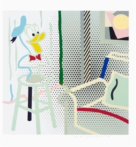 Roy Lichtenstein, 'Virtual Interior - Portrait of a Duck (Corlett 294)', 1995, Vertu Fine Art
