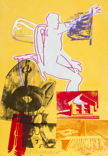 Robert Rauschenberg, 'Portrait of Merce Cunningham', 1984, Print, Serigraph with hand-coloring and collage, RoGallery