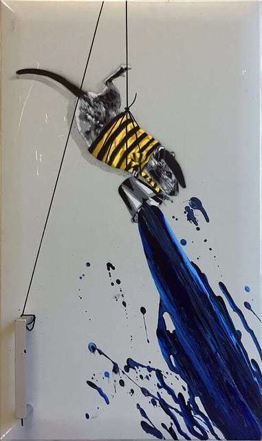 , 'Rat painting Blue (on door),' 2018, NextStreet Gallery