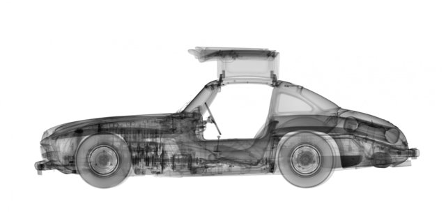 Nick Veasey, '1955 Mercedes 300SL Gull-Wing', Villa del Arte Galleries