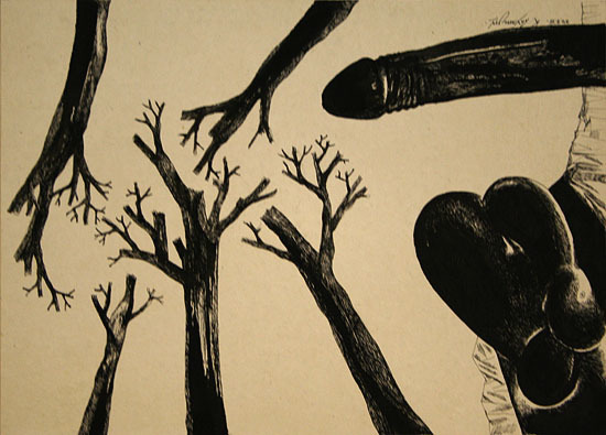 , 'Untitled (Penis and Tree Roots),' 1975, Aicon Gallery