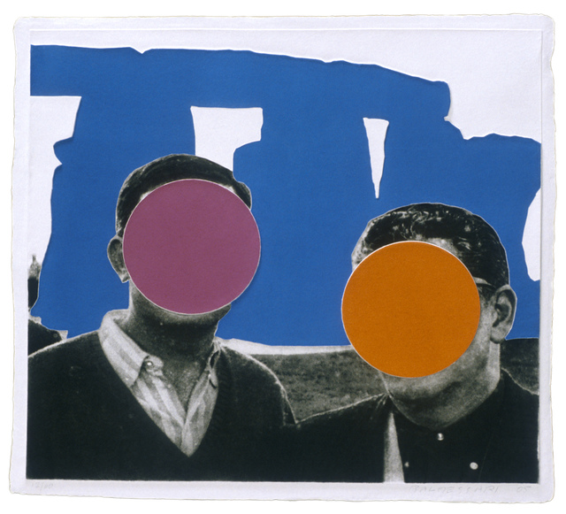 , 'Stonehenge (With Two Persons) Blue,' 2005, Mixografia