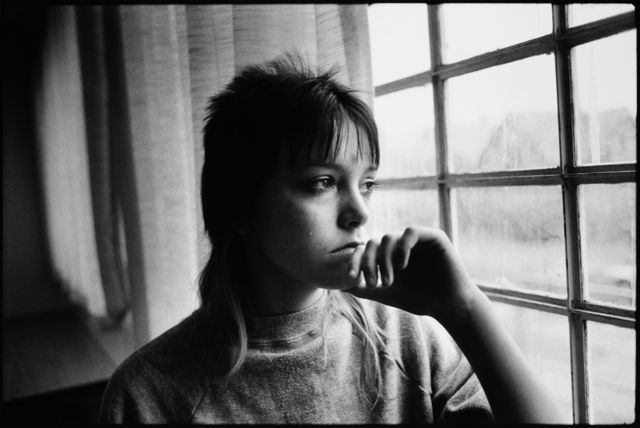 , 'Tiny looking out a window in juvenile detention,' 1983, Norton Museum of Art