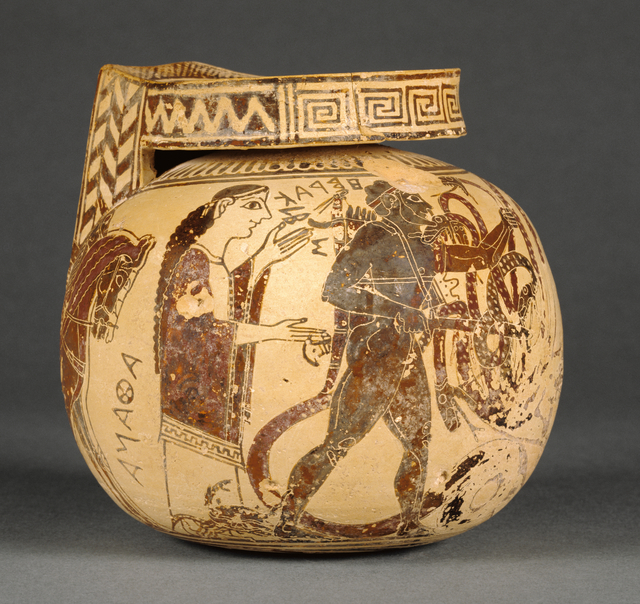 'Corinthian Aryballos',  first quarter of 6th century B.C., J. Paul Getty Museum