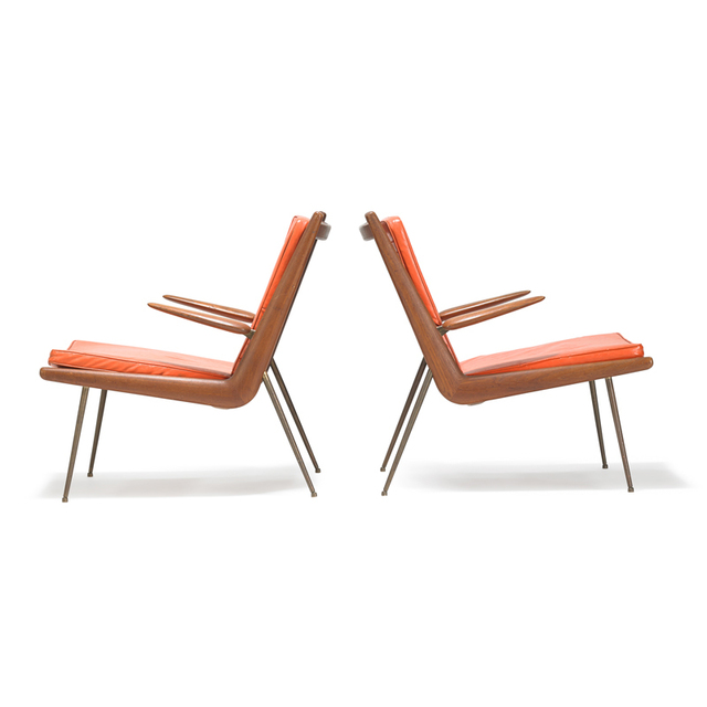 France and Sons, 'Two Boomerang lounge chairs, Denmark', Rago/Wright