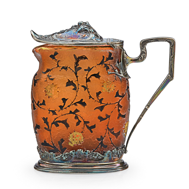 Daum, 'Early Japonesque Pitcher With Pomegranates, France', Late 19th C., Rago/Wright