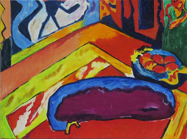 """, 'De la serie Desnudos (El eslabón perdido). Ernst Ludwig Kirchner """"Chica con gato"""",' 2016, Fernando Pradilla/El Museo"""