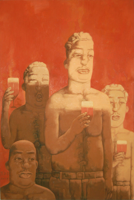 Su Xinping 苏新平, 'Toasting No.48  干杯系列之48', 2008, Painting, Oil on canvas, Linda Gallery