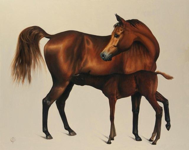 , '1. Arabian Mare and Foal,' 2016, Sladmore Contemporary