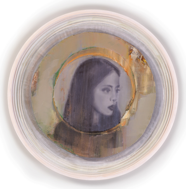 , 'Girl with Auratic Circle,' 2015, Federico Luger (FL GALLERY)