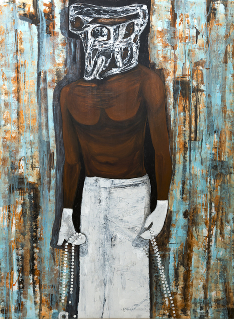 Sambou Diouf, 'Le Pelerin ', 2019, Painting, Mixed techniques on canvas, OH GALLERY