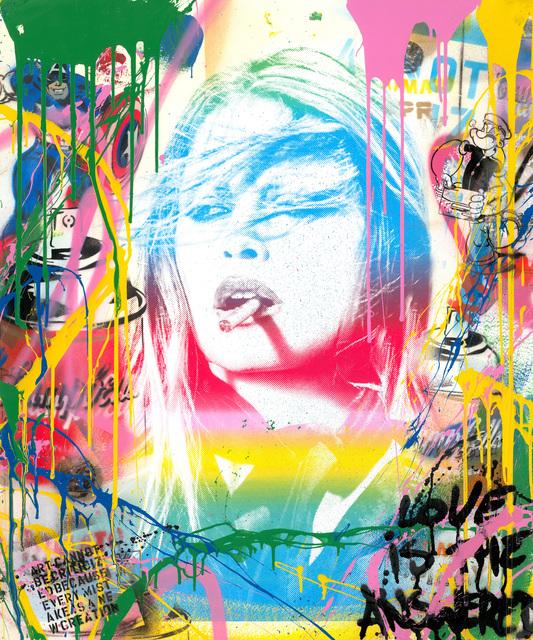 Mr. Brainwash, 'Brigitte Bardot', 2019, Painting, Silkscreen and Mixed Media, Zemack Contemporary Art