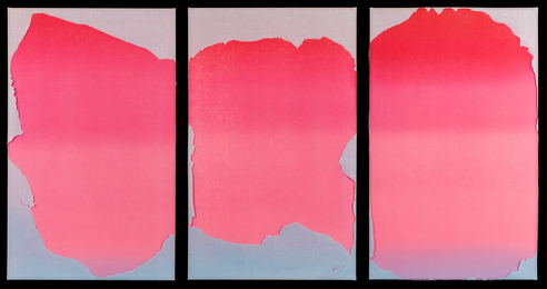 Untitled (Triptych)from Wash and Tear Series