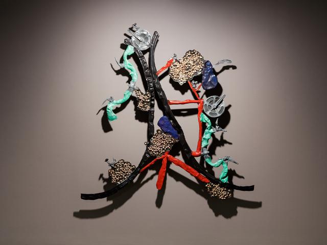 Musa paradisiaca, 'Bicycle and popcorn', 2020, Sculpture, Painted fiberglass, Quadrado Azul