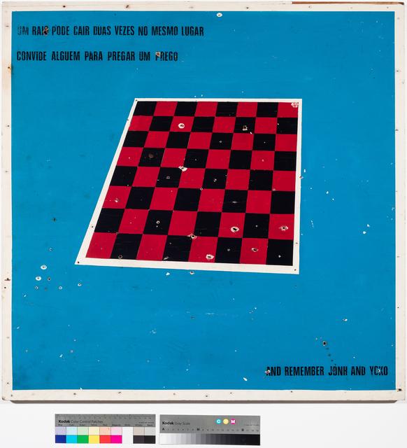 """, '""""Um raio pode cair duas vezes no mesmo lugar, convide alguém para pregar um prego"""".,' ca. 1983, Ronie Mesquita Galeria"""