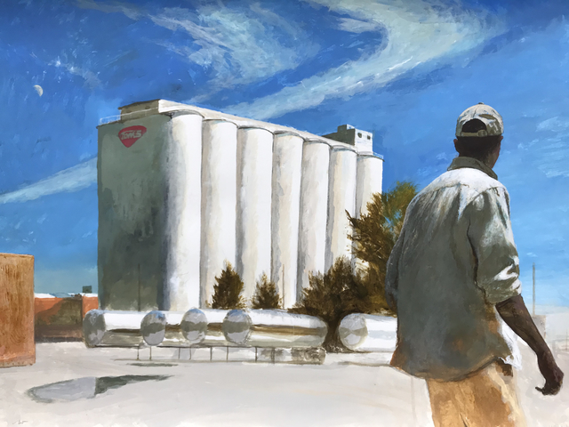 Bo Bartlett, 'NutMan (Unemployed Worker at The Old Tom's Peanuts Factory Silos)', 2019, Dowling Walsh