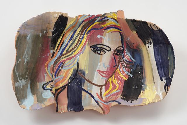 , 'Femme Sur Fond Cobalt,' 2017, Jane Hartsook Gallery