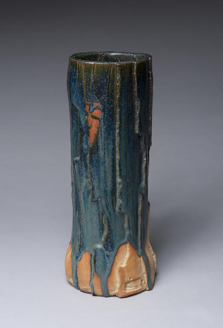 , 'Tall Slab Vessel, Oribe with Blue,' 2018, LACOSTE / KEANE GALLERY