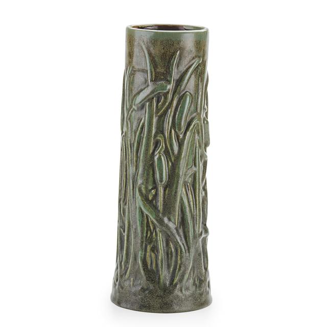 Fulper Pottery, 'Fine and Rare Cattail Vase, Flemington, NJ', 1910s, Design/Decorative Art, Fine And Rare Cattail Vase, Verte Antique Glaze, Rago/Wright