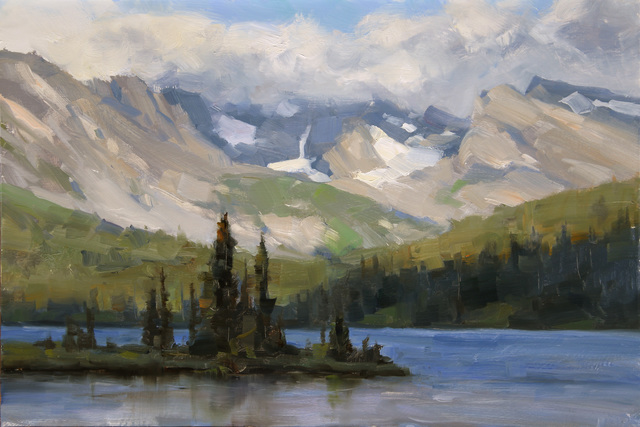 , 'Long Lake #1, Study,' 2015, Abend Gallery