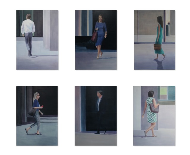 , 'Passers by 1 - 6,' 2019/2020, Jill George Gallery
