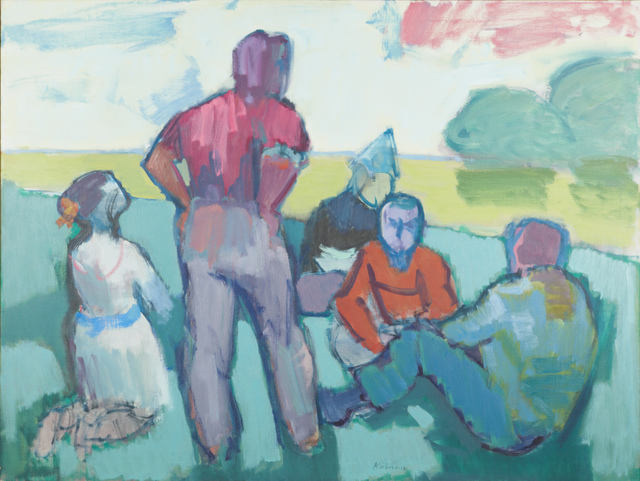 Jacob Kainen, 'Park Group (Discussion)', 1966, Painting, Oil on canvas, Childs Gallery