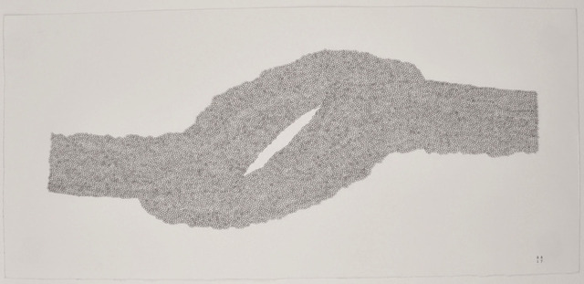 Stephanie Strange, 'Tectonic River', 2018, Drawing, Collage or other Work on Paper, Typewriter on paper, Wally Workman Gallery