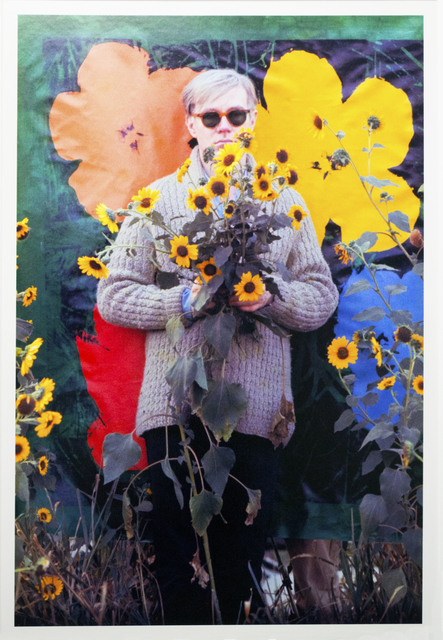 , 'Andy Warhol with his Flowers in the background (Museum Edition),' 1964, William John Kennedy Collection