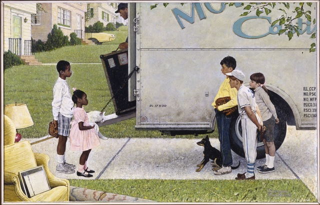 , 'New Kids in the Neighborhood (Negro in the Suburbs),' 1967, Brooklyn Museum