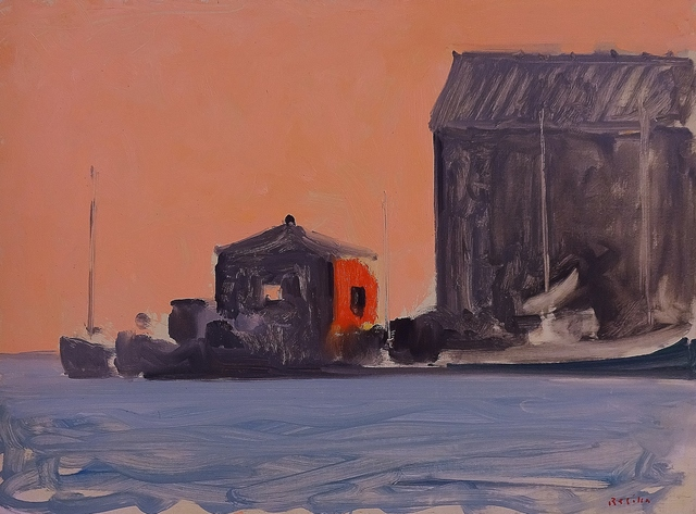 , 'Provincetown Pier, Chinese Red,' 1987, Lawrence Fine Art