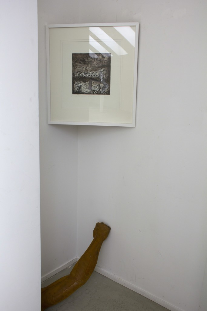 """Exposition fragment with installation from the series """"Hand Distance"""""""