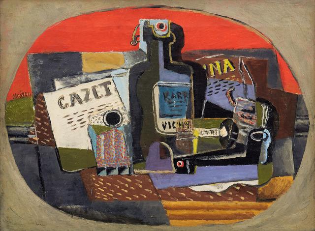 Henri Hayden, 'Bouteille et journal', 1919, BAILLY GALLERY