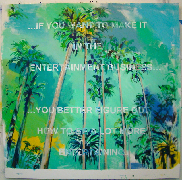, 'Note To Self ( LA Palms ),' 2015, MULHERIN