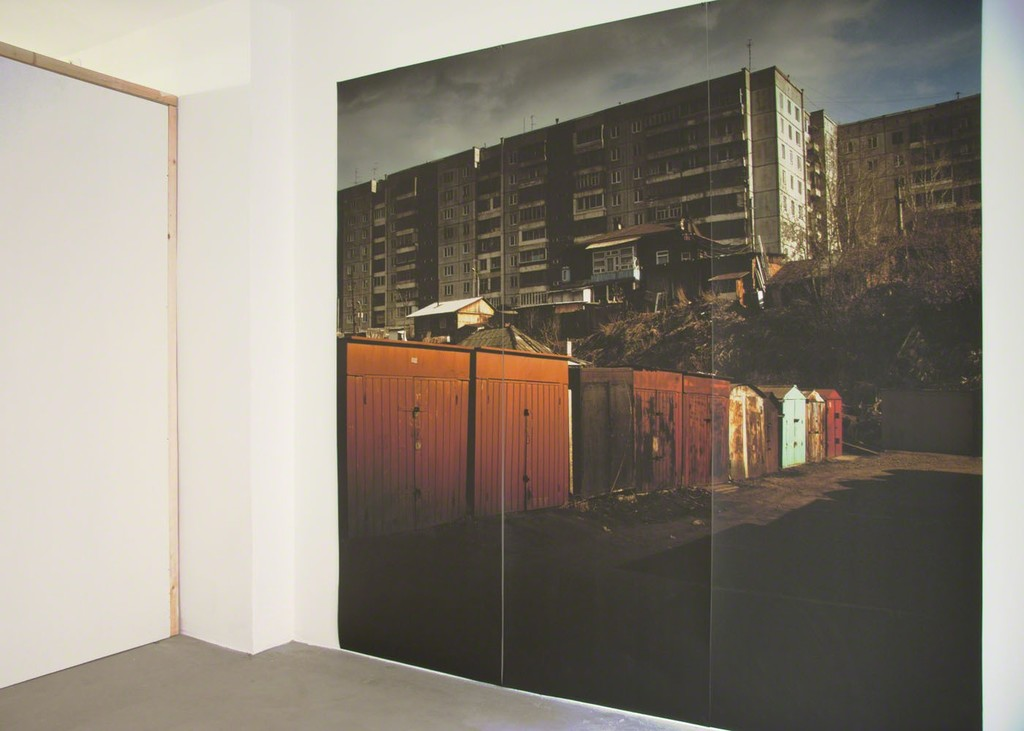 Ine Lamers, showroom, untitled (the emperor), inkjet print in three parts, 250 x 250 cm, 2011 | image: Ine Lamers