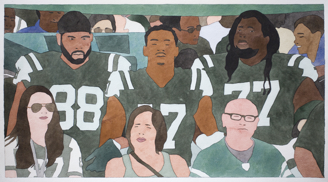 , 'National Anthem (New York Jets),' 2019, Haines Gallery