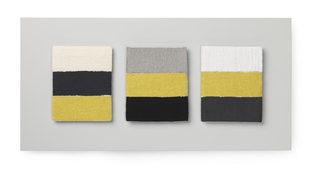 , 'Odd Yellow Bands I, II, III (triptych),' 2017, The Scottish Gallery