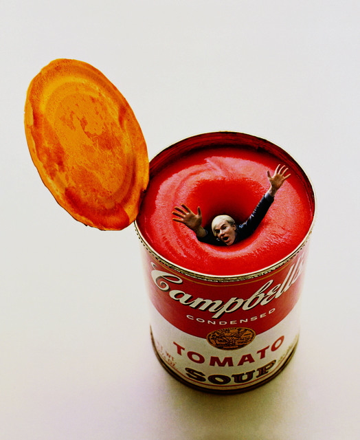 , 'Andy Warhol in a Soup Can,' 1969, CAMERA WORK
