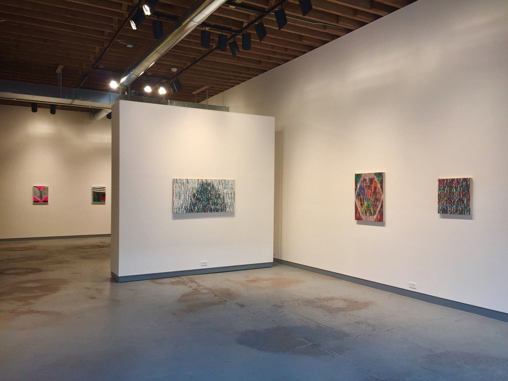 Eric Sall and Marcus Cain as part of Color and Pattern. (L to R: What Wonder, Icy Top, Blueness, Corners and Sides, Alignment)
