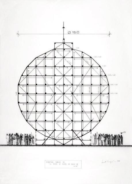 """, 'Estructura tubular de """"la pelota de fútbol de dulce de leche"""",' 1981, Henrique Faria Fine Art"""