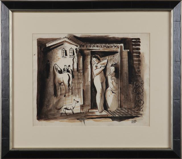 "Béla Kádár, '""A Study with Female Nude""', ca. 1930, Art 1900"