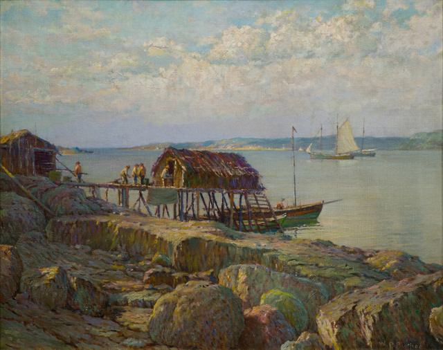 William Partridge Burpee, 'Newfoundland Fish Wharf', 19th -20th Century, Vose Galleries