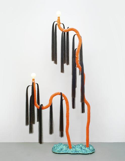 Jonathan Trayte, 'Orange Foam, Cola Moon (2)', 2020, Design/Decorative Art, Stainless steel, foam, polymer compound, pigments, nylon flock, crushed glass, reinforced plastics, horse hair, lightfittings, Friedman Benda