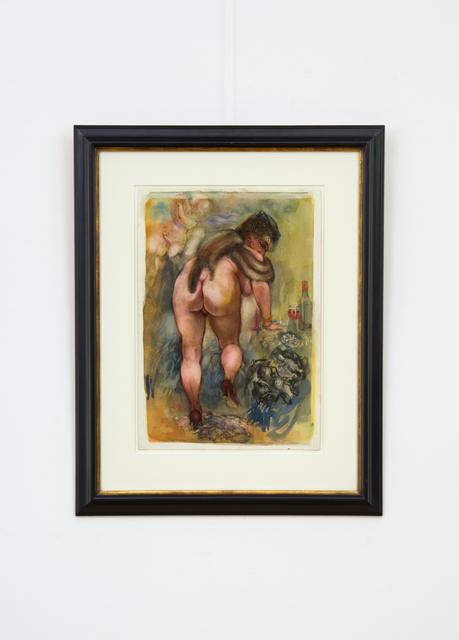, 'Sich Entkleidende mit Schleierhütchen (Undressing Nude with Veil Hat),' 1940, Hagemeier