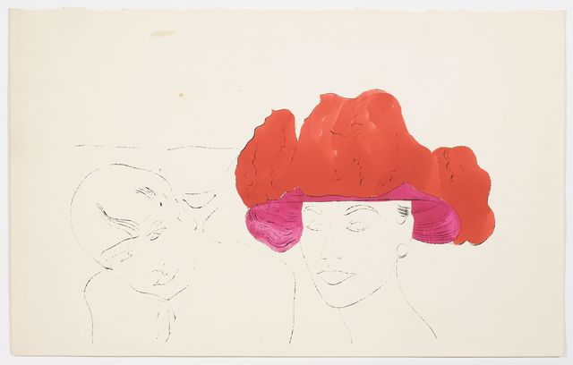Andy Warhol, 'FEMALE HEAD WITH MALE', ca. 1957, Cheim & Read