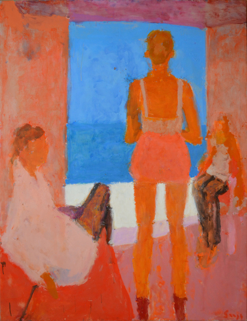, 'Three figures by the sea,' 2014, Cadogan Contemporary