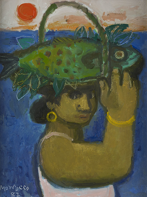 , 'Woman with Fishing Basket,' 1987, The Scottish Gallery