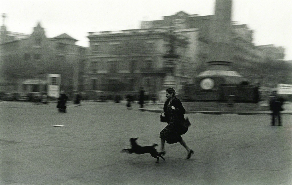 Robert Capa, 'Running for Shelter During Air Raid, Barcelona,' 1939, Aperture Foundation