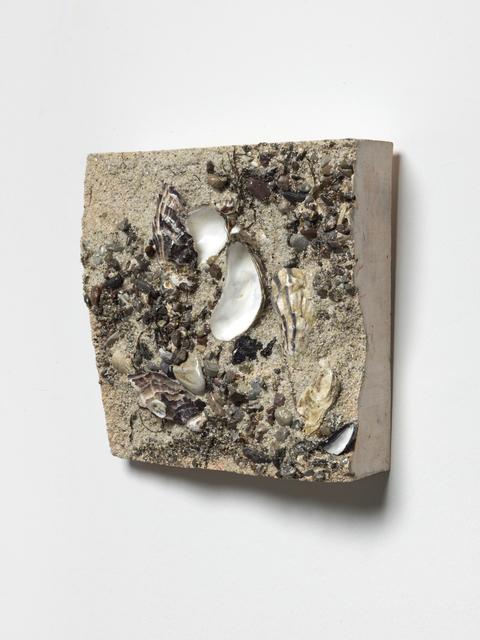 Tue Greenfort, 'EARTHSCAPE ( COAST III)', 2020, Sculpture, Plaster, sand, stones, plant and seaweed, shells, KÖNIG GALERIE