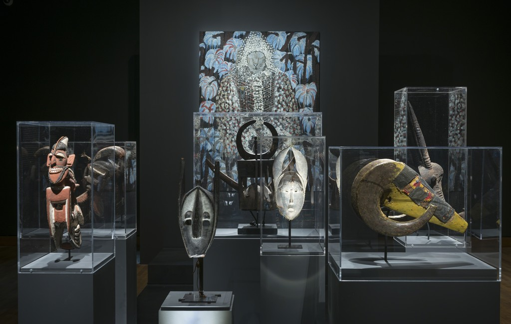 View of the exhibition From Africa to the Americas: Face-to-face Picasso, Past and Present. The Montreal Museum of Fine Arts, May 12 to September 16, 2018. © Estate of Picasso / SODRAC (2018). Photo: MMFA, Denis Farley.